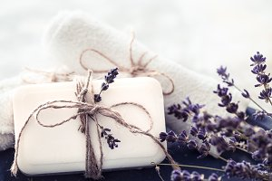 Spa still life with lavender