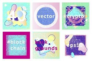 40 Memphis pop art textures