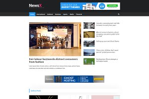 NewsX - Premium Ghost Theme