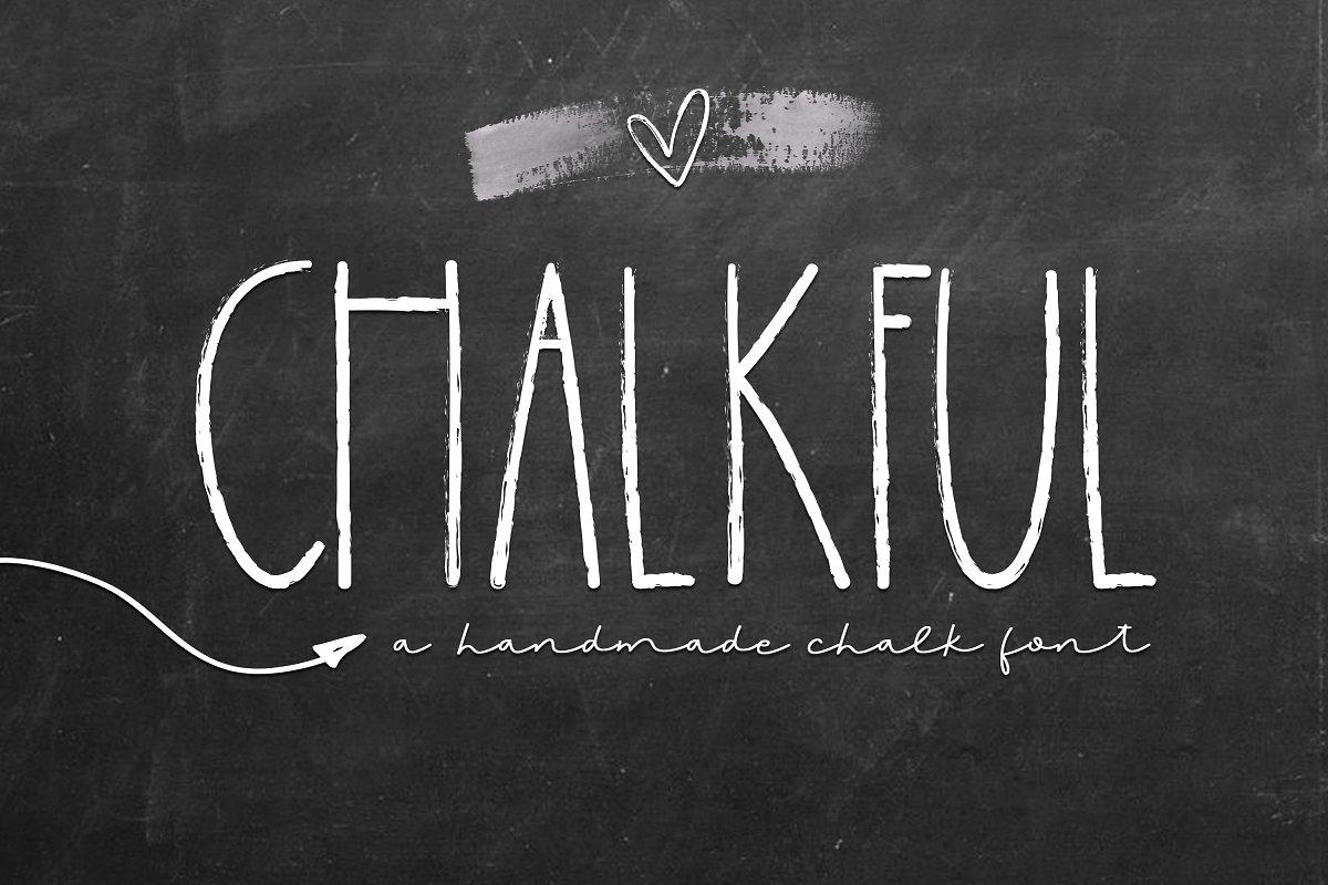 Chalkful - A Handmade Chalk Font