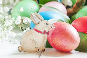 Happy easter! Festive composition wi