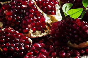 Azerbaijan peeled pomegranate on the