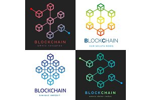 Blockchain logo set
