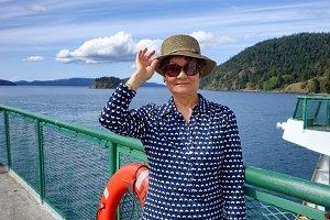 Senior woman ready to travel
