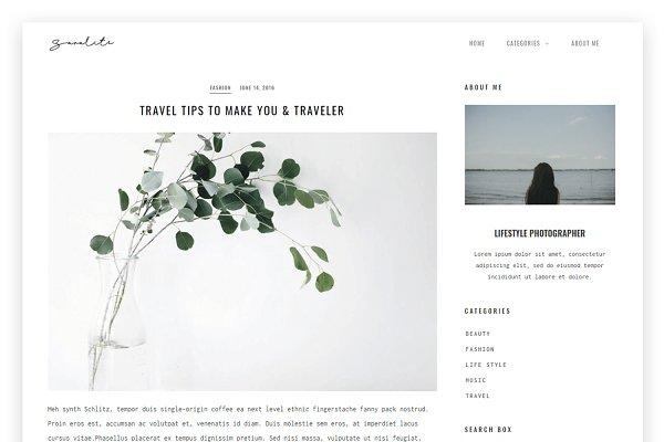 SaraLite - Minimalist WordPress Blo…