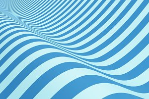 Blue striped. Wavy shape, optical il