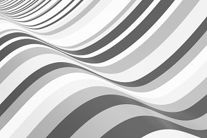 Grey striped. Wavy shape, optical il
