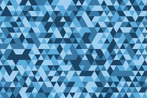 Blue triangle tiles flooring, seamle