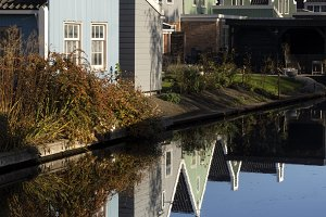 Row of houses in Westzaan