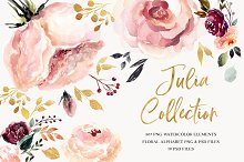 Giant Julia Watercolor Collection by  in Illustrations