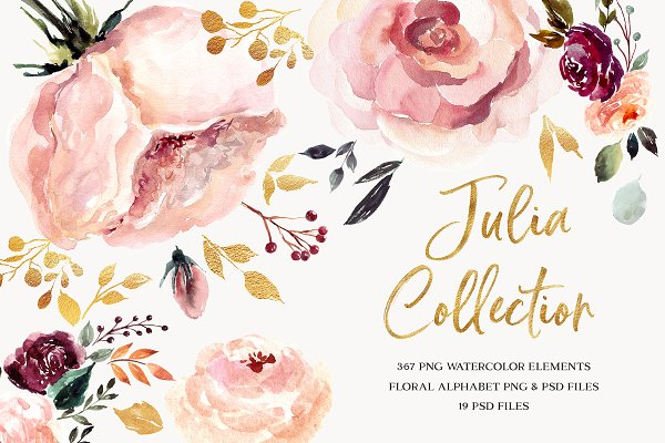 Illustrations and Illustration Products: MoleskoStudio - Giant Julia Watercolor Collection