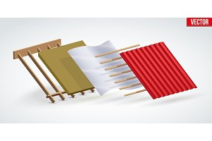 Red zinc metal roofing cover and