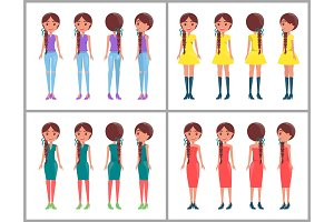 Women Collection Constructor Vector