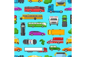 Traffic jam vector transport car