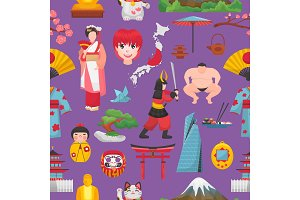 Japan vector japanese culture and