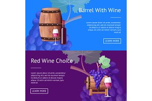 Barrel with Red Wine and Choice