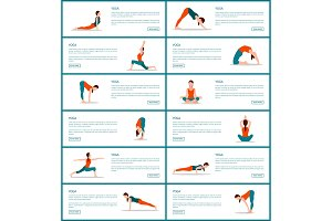 Yoga and Text Sample Web, Vector