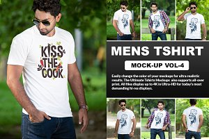 Mens T-shirt Mockups Vol: 4