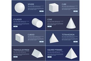 Sphere Cube Cylinder Cone Cuboid