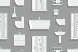 Pattern with Elements for bathroom