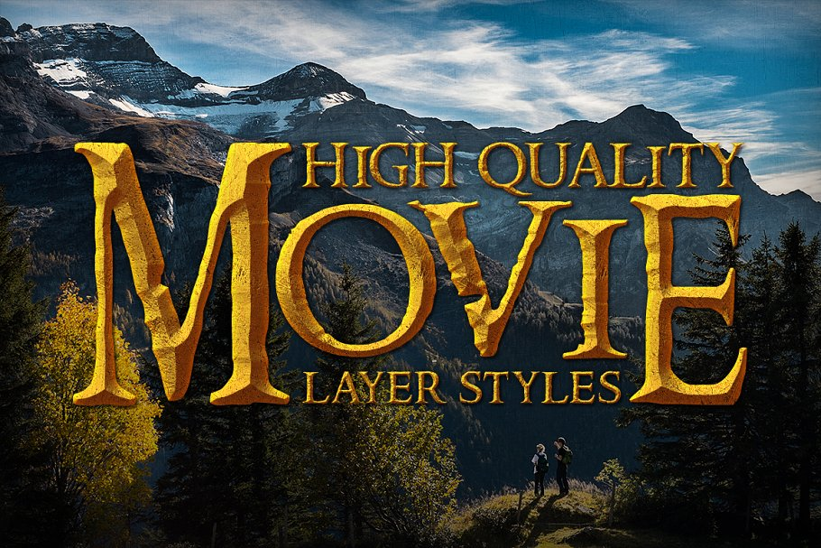 Movie Photoshop Text Effects Bundle ~ Photoshop Add-Ons