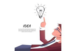 Idea Developer Electric Bulb Vector