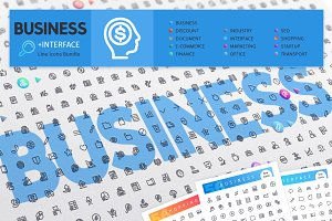 Business 700+ Line Icons Bundle