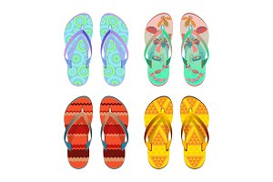 Flip-flops different styles of