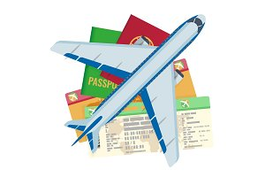 Passport tickets documents and