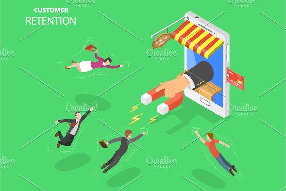 Mobile store customer retention in Illustrations