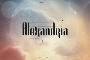 Alexandria Font Family + Bonus -70%