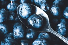 Fresh blueberries closeup view by  in Food & Drink