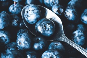 Fresh blueberries closeup view