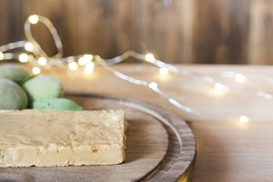 Turron typical spanish  sweet for ch