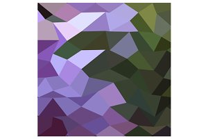 Palatinate Purple Abstract Low Polyg