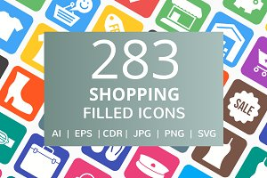 283 Shopping Filled Icons