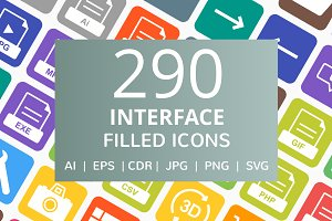 290 Interface Filled Icons