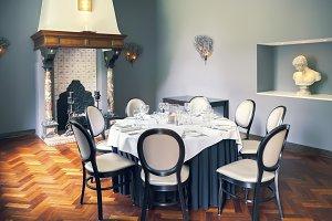 empty luxury table in room