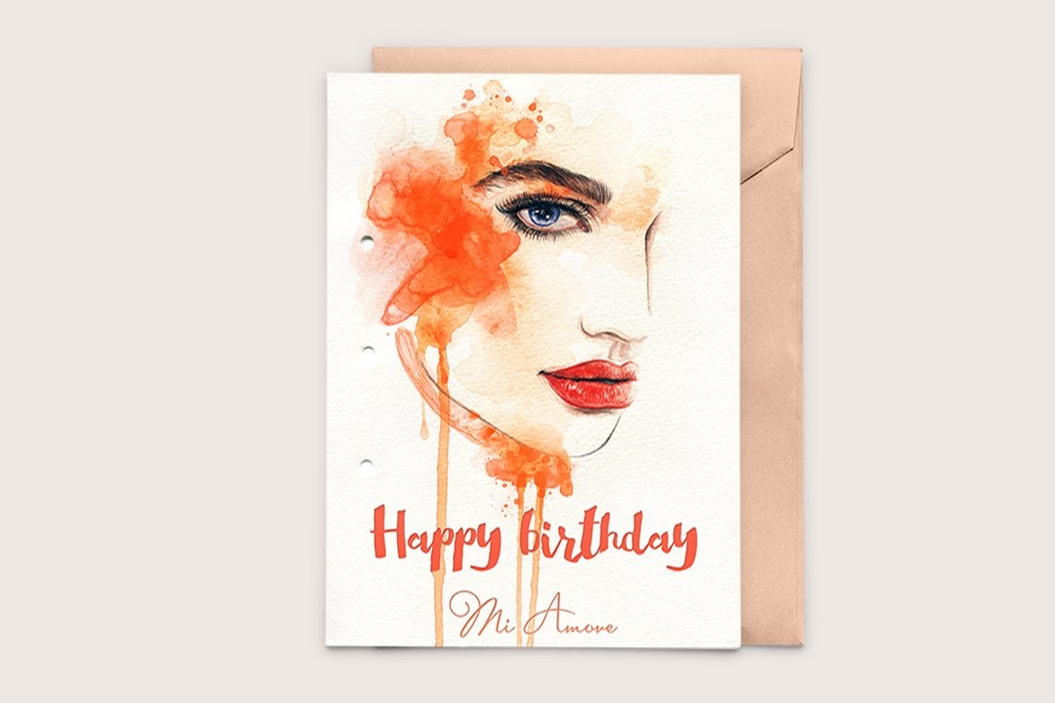printable birthday card ~ templates ~ creative market