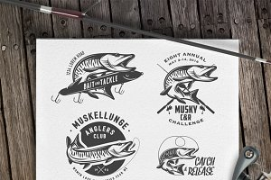 Muskie fishing design elements