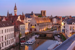 Quay Graslei in the morning, Ghent