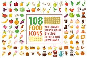 108 food icons