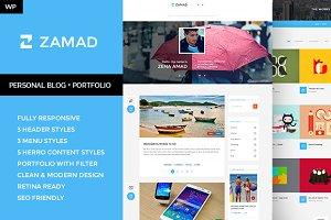 Zamad - Personal Blog + Portfolio