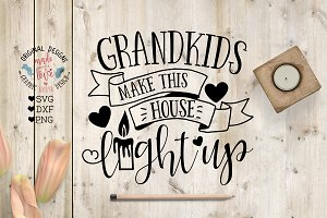 Grandkids make this house Cut File