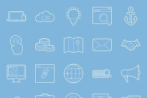 SEO and e-marketing icons set
