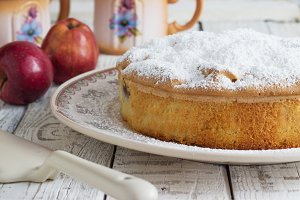 Traditional Italian cake with  and sour apples.