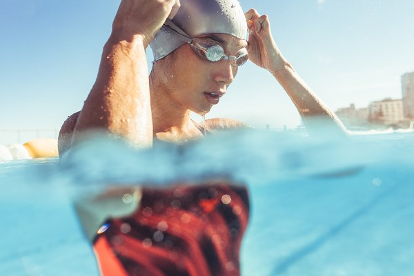 Sports Stock Photos: Jacob Lund Photography - Professional swimmer taking a break