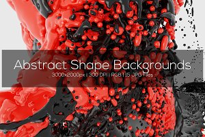 Abstract 3D Shape Backgrounds