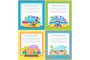 Distant Work and Freelance Set Web