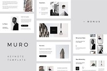 MURO - Keynote Template + Big Bonus by  in Presentations